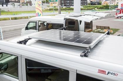 軽キャンピングカーちょいCamオプション「ソーラー充電システム」