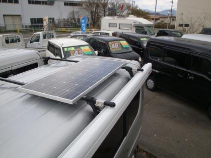長野県のキャンピングカーレンタル・販売 ポッキリ屋のちょいCam_ ソーラー充電システム