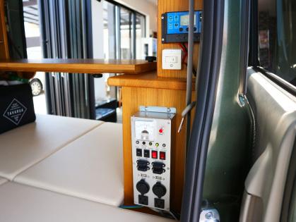 岐阜県のキャンピングカー販売ブルームーン 軽キャンパーのサブバッテリーシステム