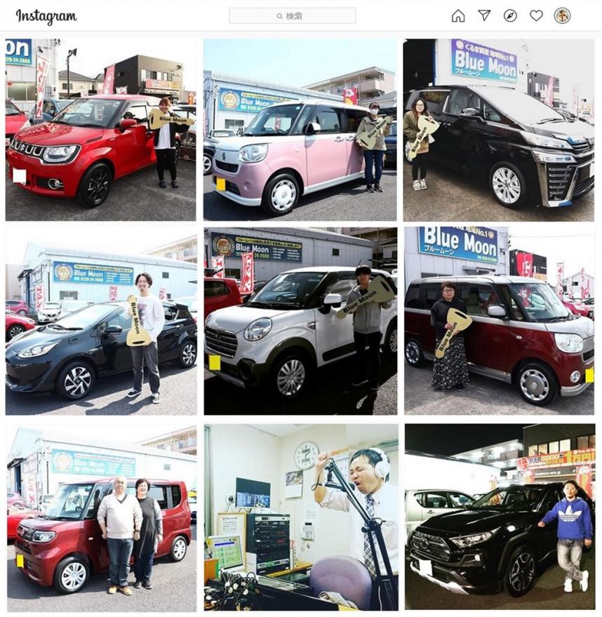 岐阜県のキャンピングカー・軽キャンパー販売 ブルームーンのインスタグラム