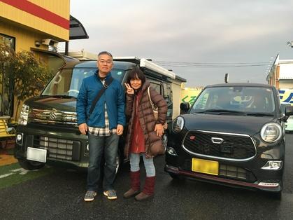 軽キャンピングカー「ちょいCam」と一緒に撮影