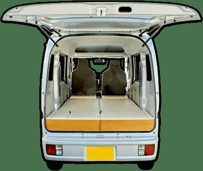 軽キャンピングカー「ちょいCam寝るだけキット」エブリワゴン・PZターボスペシャル・4WD