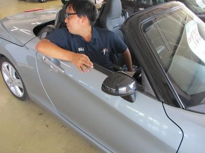 茨城県-東京圏のキャンピングカー販売店ナオイオートの倉持副店長、車の移動