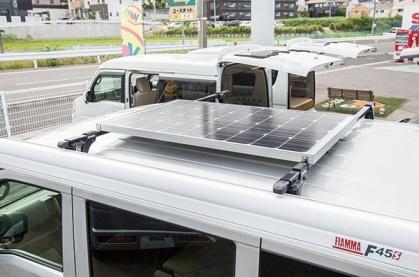 軽キャンパーちょいCamのソーラー充電システム