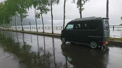ちょいCamと雨の支笏湖へ