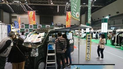 軽キャンピングカーちょいCamが出展した福岡キャンピングカーショー2020に展示されているちょいCamとお客様